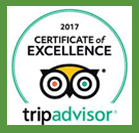 TripAdvisor certificate of excellence 206-2017