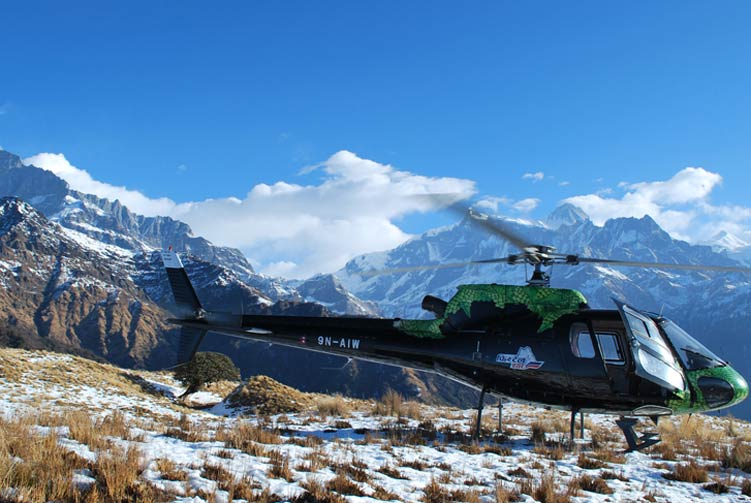 Helicopter Private Day Tours fixed departure spring/autumn 2018/2019 cost & itinerary